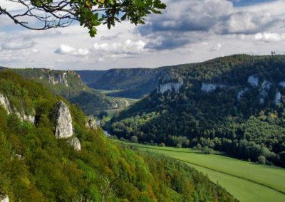 Blick vom Eichfels ins Donautal