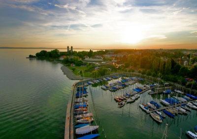 Blick auf den Hafen von Friedrichshafen