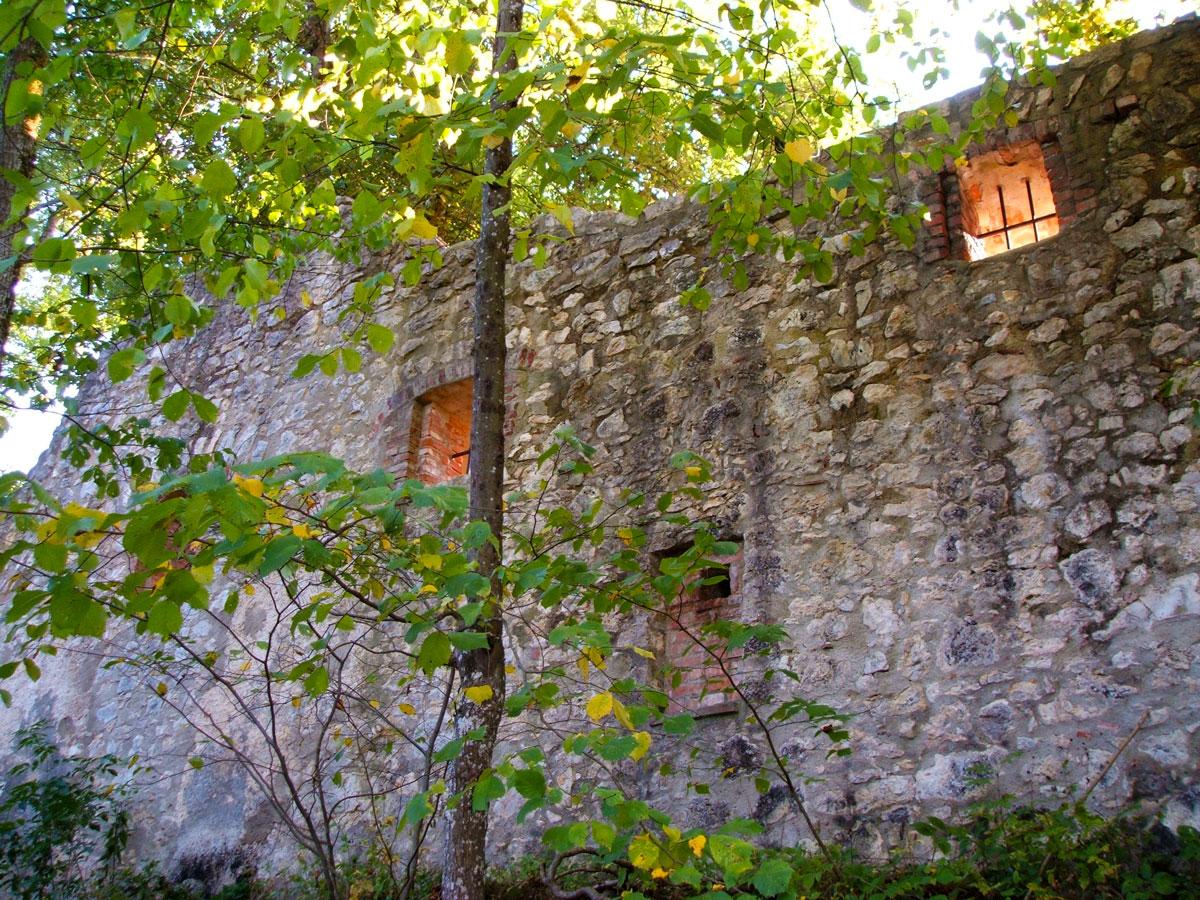 Außenmauer Ruine Hornstein