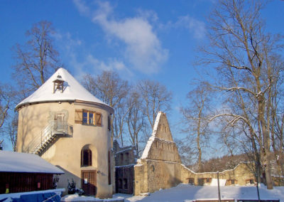 Ruine Hornstein im Winter