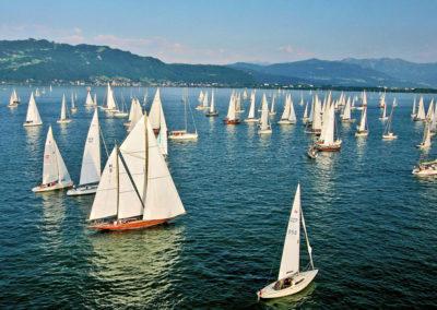 Bodensee mit Segelboten